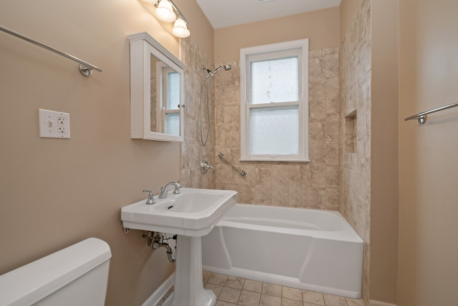 Real Estate Photography - 2130 W. Estes, Chicago, IL, 60645 - Bathroom