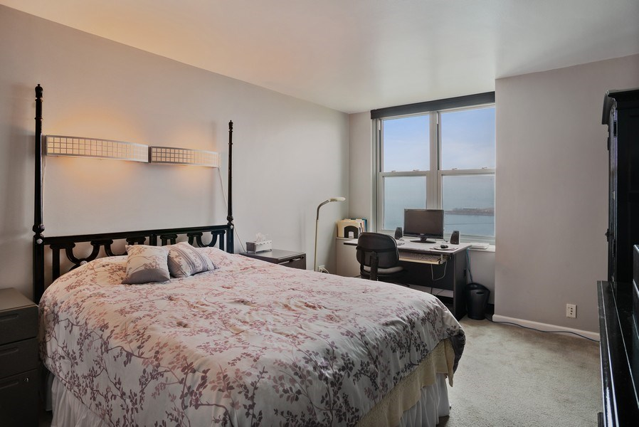 Real Estate Photography - 400 E Randolph St, Unit 3605, Chicago, IL, 60601 - Bedroom