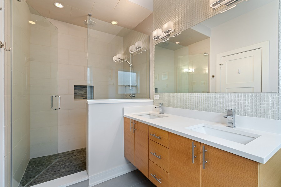 Real Estate Photography - 2343 W. Lyndale, #3, Chicago, IL, 60647 - Master Bathroom