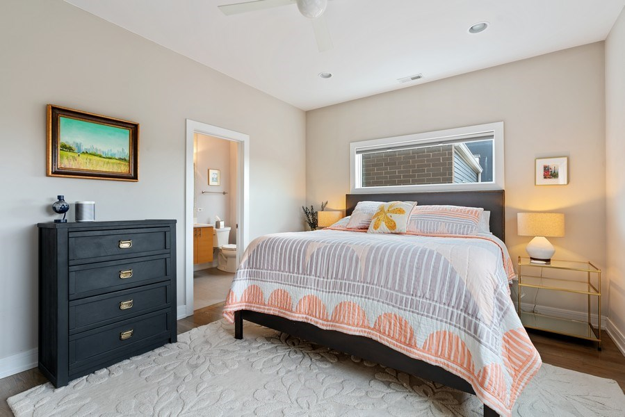Real Estate Photography - 2343 W. Lyndale, #3, Chicago, IL, 60647 - Master Bedroom