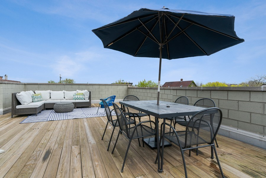 Real Estate Photography - 2343 W. Lyndale, #3, Chicago, IL, 60647 - Roof Deck
