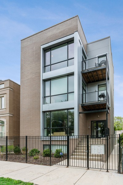 Real Estate Photography - 2343 W. Lyndale, #3, Chicago, IL, 60647 - Front View
