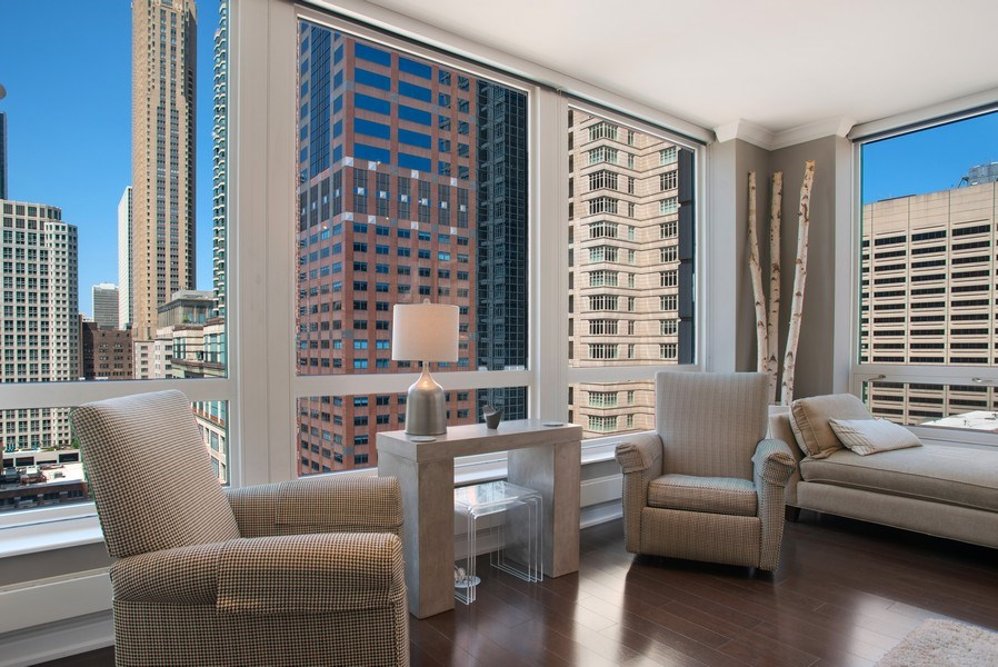 Real Estate Photography - 55 E Erie #1803, Chicago, IL, 60611 - Living Room