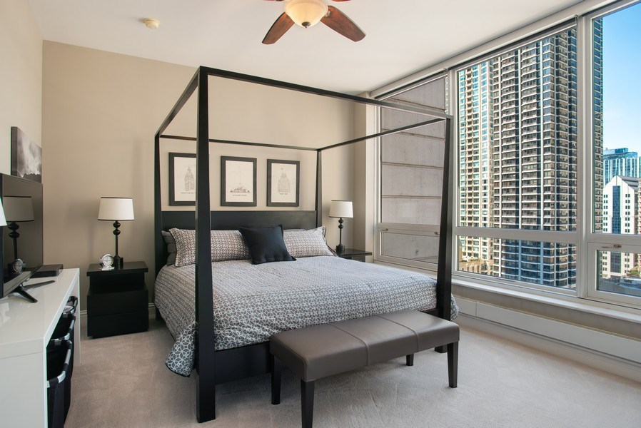 Real Estate Photography - 55 E Erie #1803, Chicago, IL, 60611 - Master Bedroom