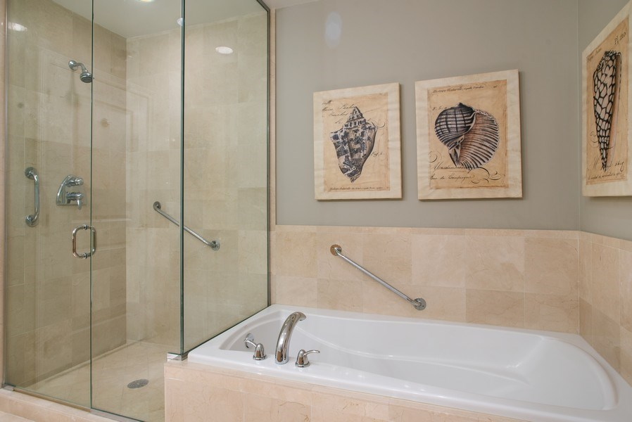 Real Estate Photography - 55 E Erie #1803, Chicago, IL, 60611 - Master Bathroom