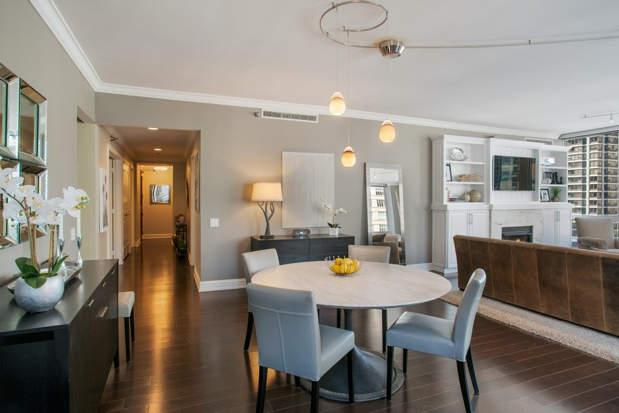 Real Estate Photography - 55 E Erie #1803, Chicago, IL, 60611 - Dining Room