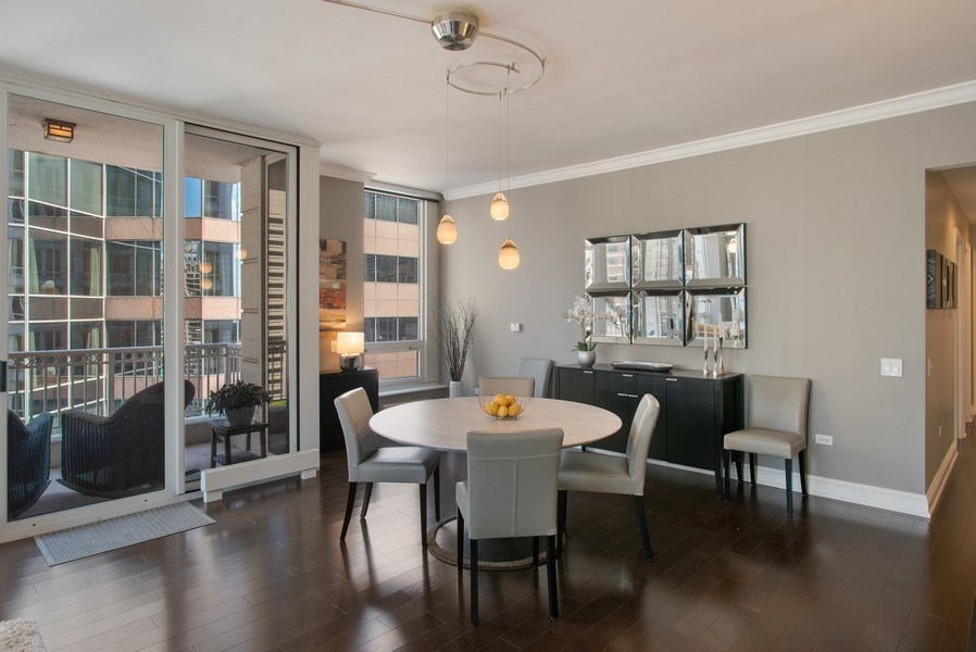 Real Estate Photography - 55 E Erie #1803, Chicago, IL, 60611 - Dining Area