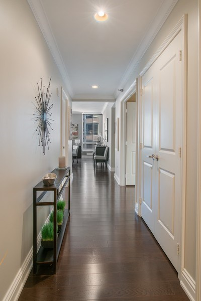 Real Estate Photography - 55 E Erie #1803, Chicago, IL, 60611 - Hallway