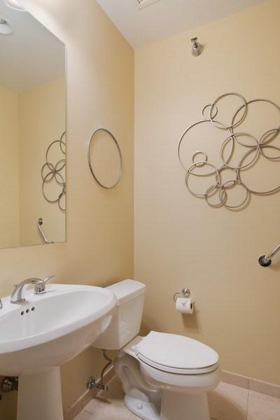 Real Estate Photography - 55 E Erie #1803, Chicago, IL, 60611 - Half Bath