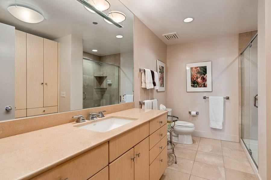 Real Estate Photography - 1301 N. Dearborn, #903-4, Chicago, IL, 60610 - 3rd Bathroom