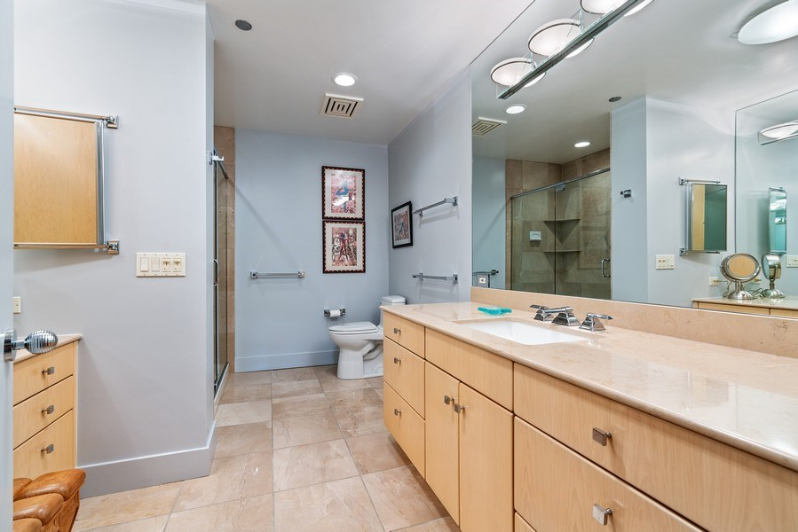Real Estate Photography - 1301 N. Dearborn, #903-4, Chicago, IL, 60610 - Master Bathroom