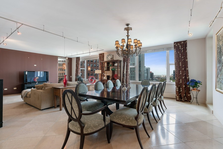 Real Estate Photography - 1301 N. Dearborn, #903-4, Chicago, IL, 60610 - Dining Room