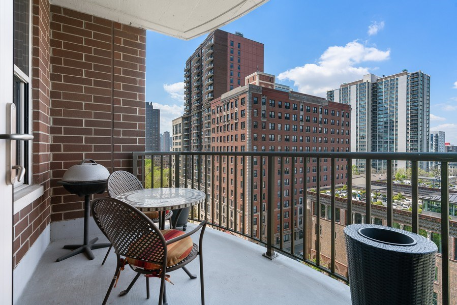 Real Estate Photography - 1301 N. Dearborn, #903-4, Chicago, IL, 60610 - Balcony