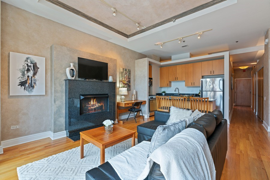 Real Estate Photography - 212 W.Washington, #1910, Chicago, IL, 60606 - Living Room