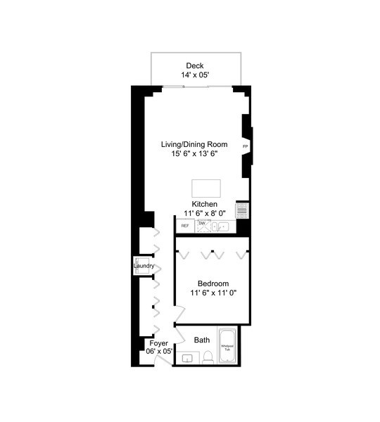 Real Estate Photography - 212 W.Washington, #1910, Chicago, IL, 60606 - Floor Plan
