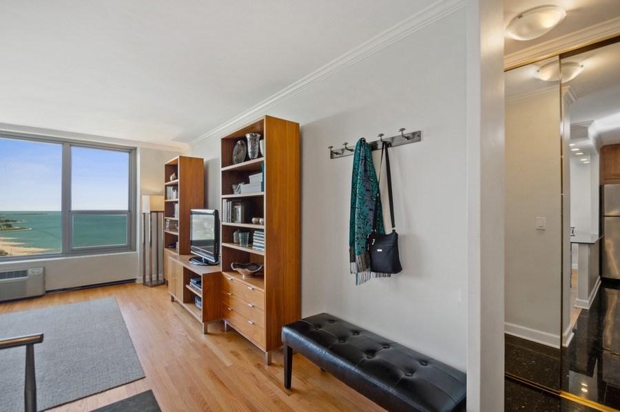 Real Estate Photography - 1550 N Lake Shore, Unit 28E, Chicago, IL, 60610 - Living Room