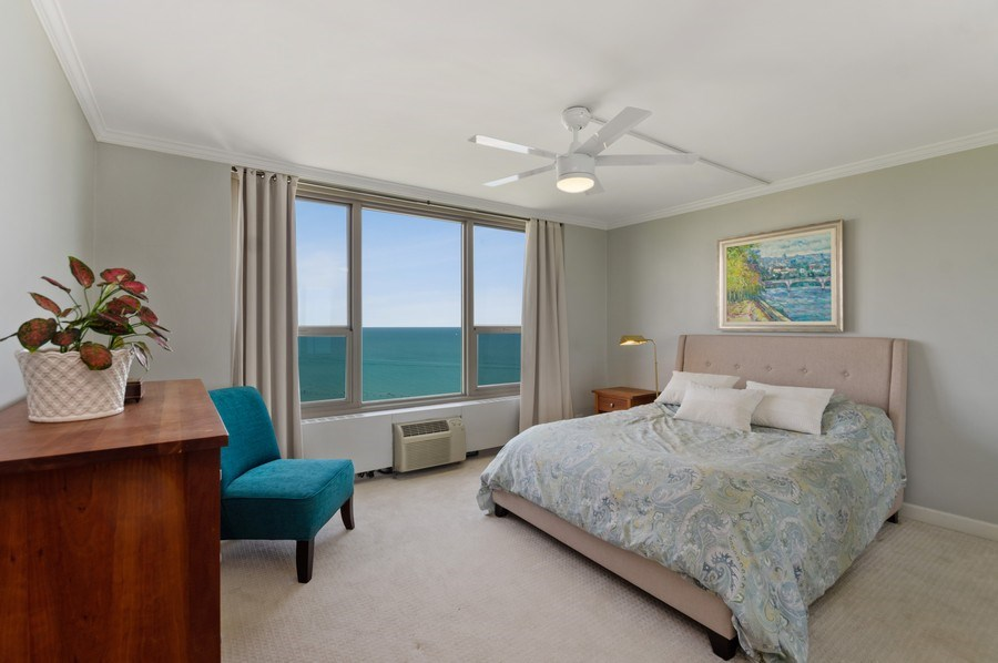 Real Estate Photography - 1550 N Lake Shore, Unit 28E, Chicago, IL, 60610 - Bedroom