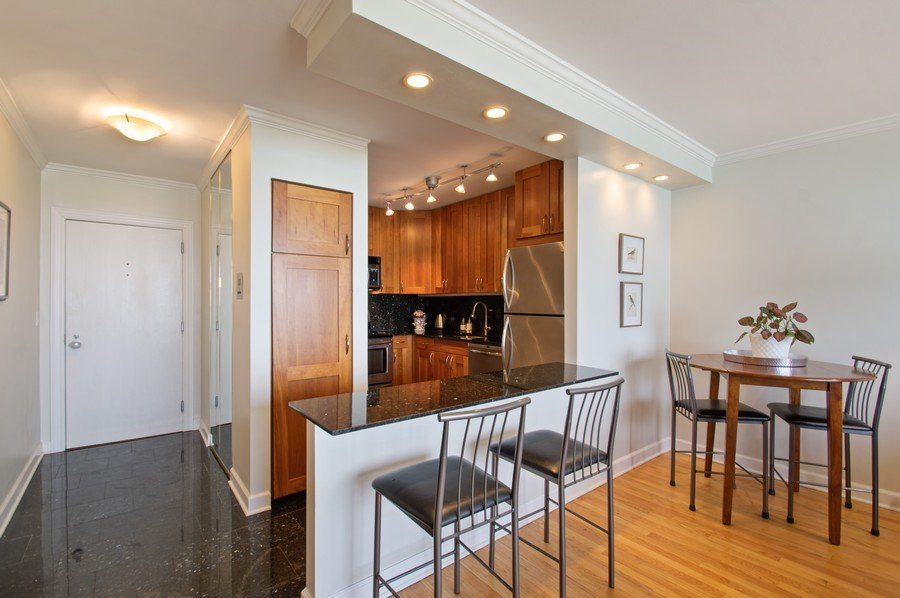 Real Estate Photography - 1550 N Lake Shore, Unit 28E, Chicago, IL, 60610 - Kitchen