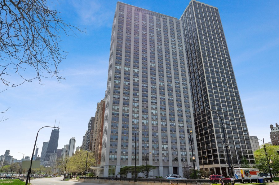 Real Estate Photography - 1550 N Lake Shore, Unit 28E, Chicago, IL, 60610 - Front View