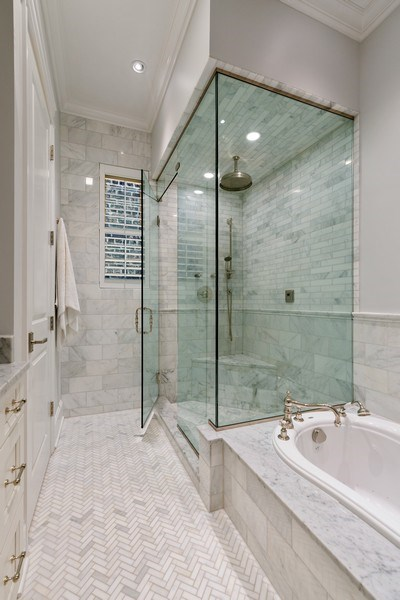 Real Estate Photography - 731 W. Melrose, #2, Chicago, IL, 60657 - Master Bathroom