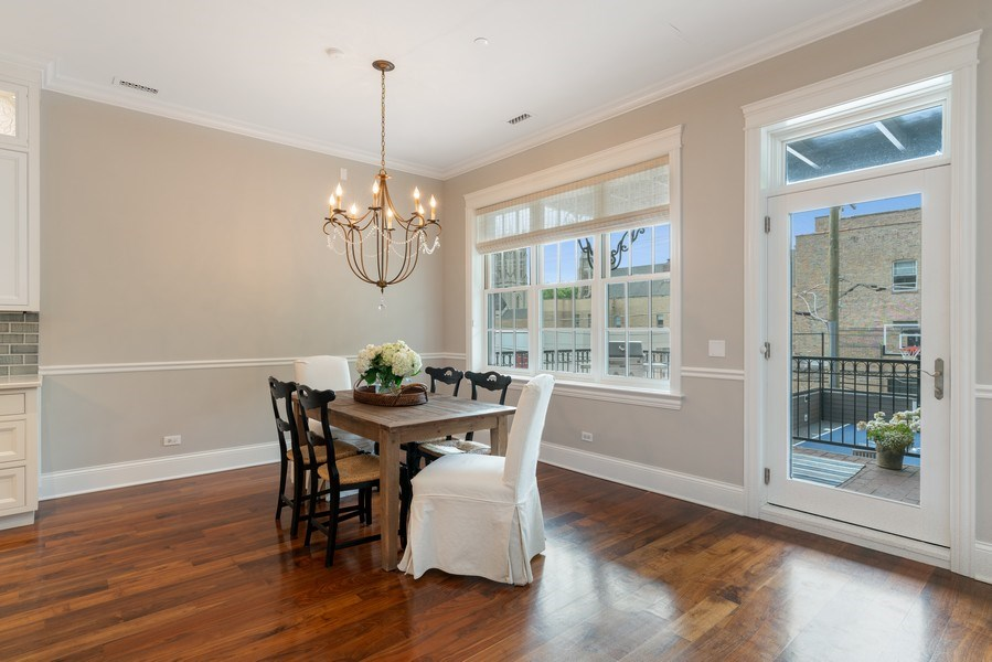 Real Estate Photography - 731 W. Melrose, #2, Chicago, IL, 60657 - Dining Room