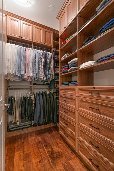 Real Estate Photography - 731 W. Melrose, #2, Chicago, IL, 60657 - Master Bedroom Closet