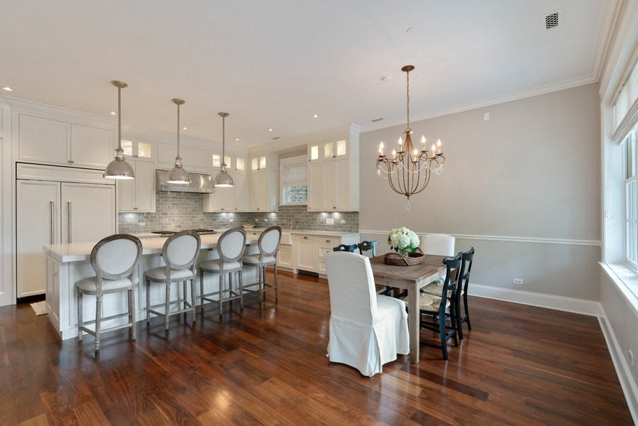 Real Estate Photography - 731 W. Melrose, #2, Chicago, IL, 60657 - Kitchen / Dining Room