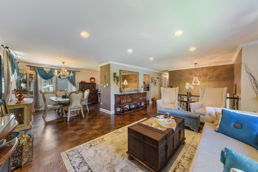 Real Estate Photography - 1800 Catalpa Ln, Mt Prospect, IL, 60056 - Living Room / Dining Room