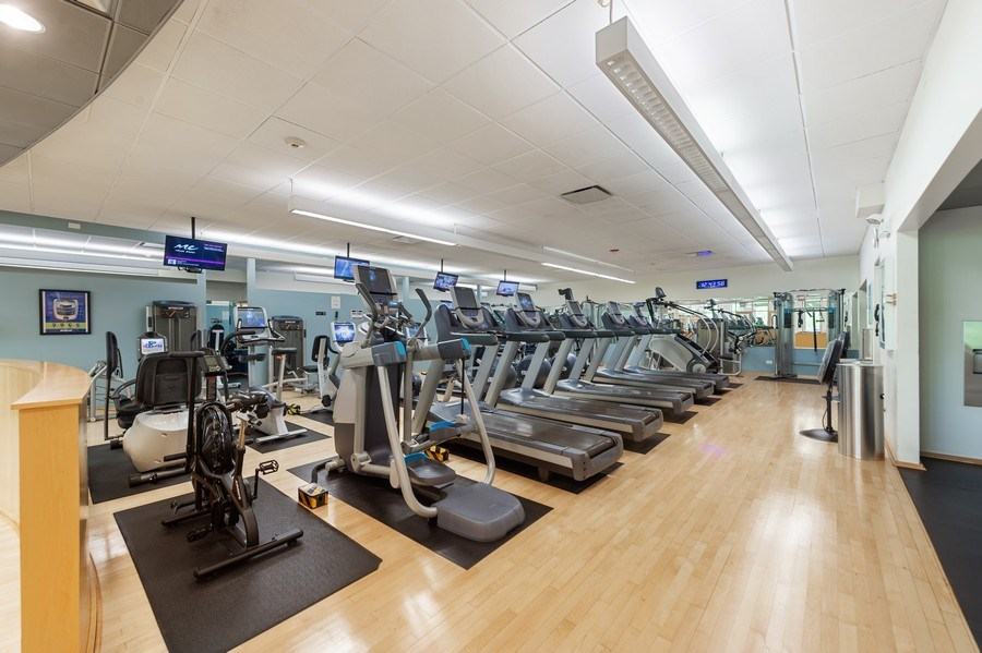 Real Estate Photography - 505 N Lake Shore Dr, Unit 5502, Chicago, IL, 60611 - Gym
