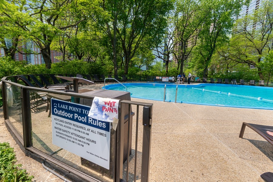 Real Estate Photography - 505 N Lake Shore Dr, Unit 5502, Chicago, IL, 60611 - Pool
