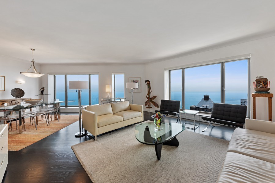 Real Estate Photography - 950 N Michigan Ave, 3605, Chicago, IL, 60611 - Living Room