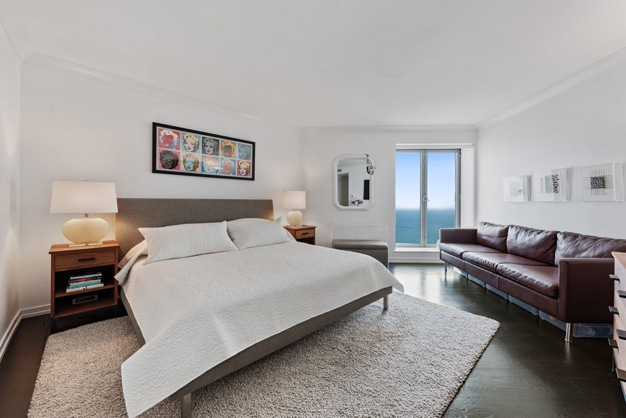 Real Estate Photography - 950 N Michigan Ave, 3605, Chicago, IL, 60611 - Master Bedroom