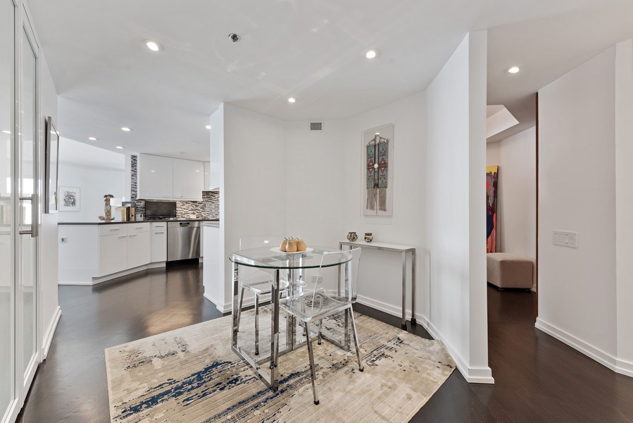 Real Estate Photography - 950 N Michigan Ave, 3605, Chicago, IL, 60611 - Kitchen / Breakfast Room