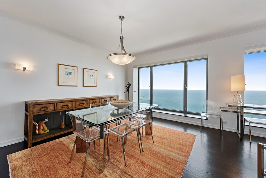 Real Estate Photography - 950 N Michigan Ave, 3605, Chicago, IL, 60611 - Dining Room