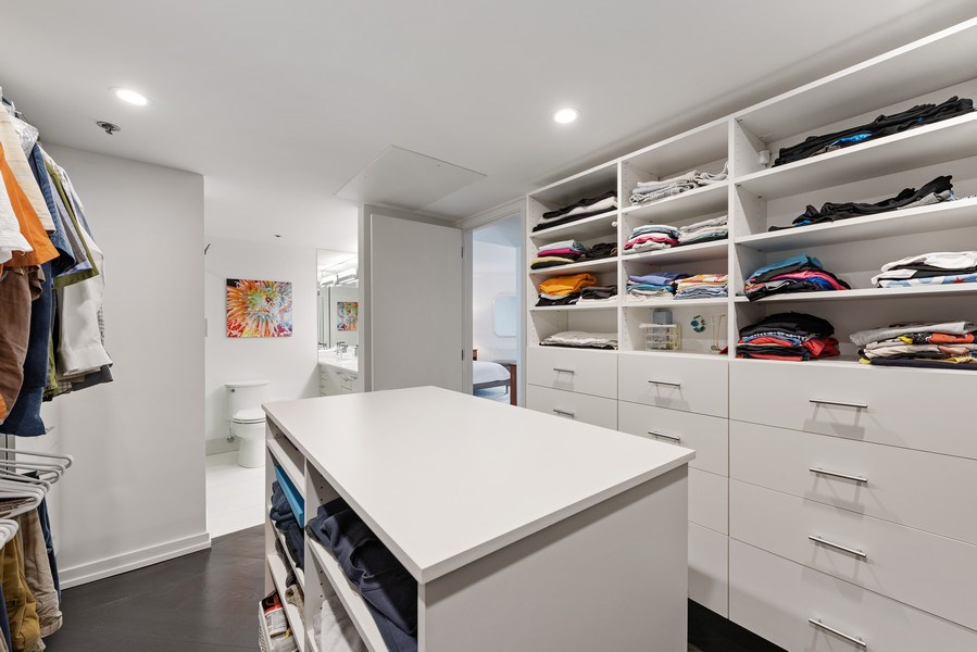 Real Estate Photography - 950 N Michigan Ave, 3605, Chicago, IL, 60611 - Master Bedroom Closet