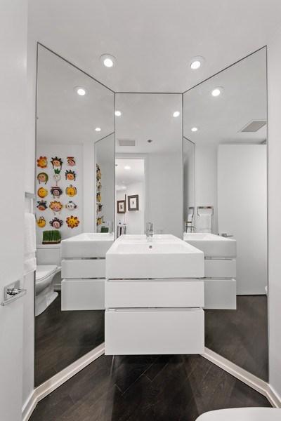 Real Estate Photography - 950 N Michigan Ave, 3605, Chicago, IL, 60611 - Half Bath