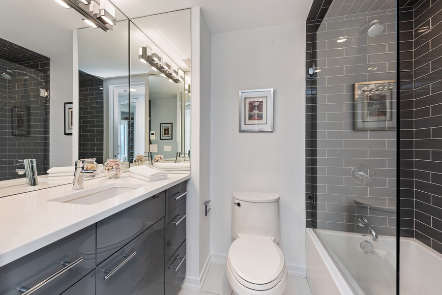 Real Estate Photography - 950 N Michigan Ave, 3605, Chicago, IL, 60611 - 2nd Bathroom
