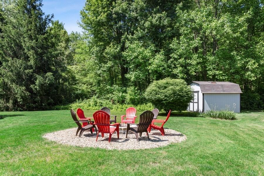 Real Estate Photography - 13892 Lakewood Drive, Harbert, MI, 49115 - Firepit & Backyard