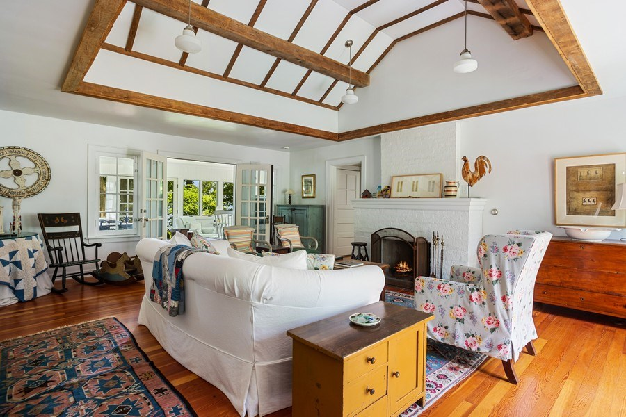 Real Estate Photography - 15120 Lakeshore Road, Lakeside, MI, 49116 - Living Room to Sun Room