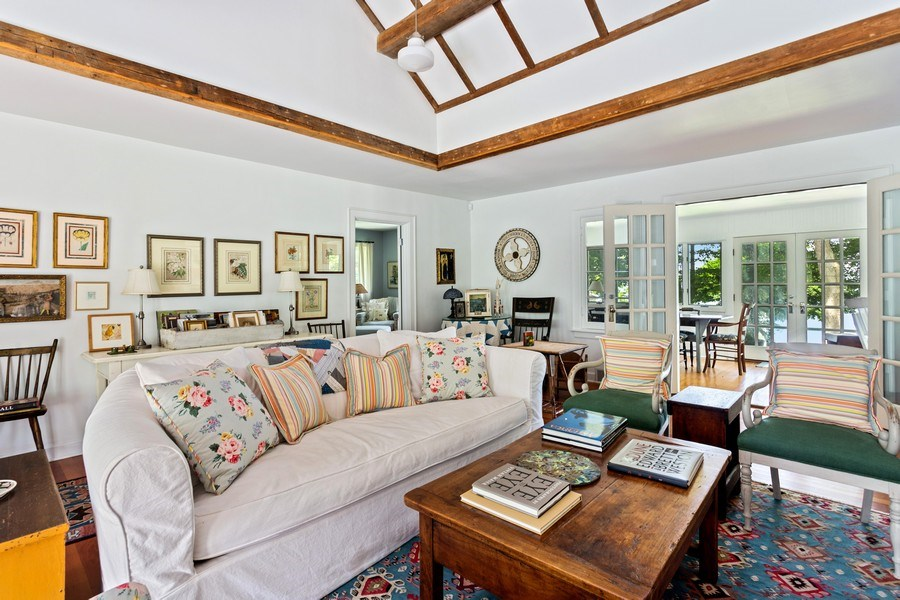 Real Estate Photography - 15120 Lakeshore Road, Lakeside, MI, 49116 - Living Room to Sunroom