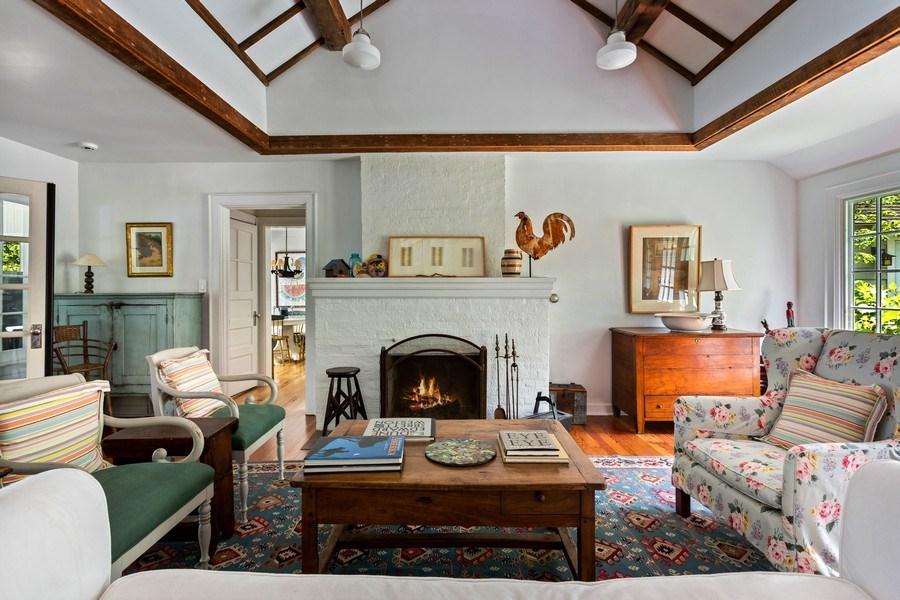 Real Estate Photography - 15120 Lakeshore Road, Lakeside, MI, 49116 - Living Room Fireplace