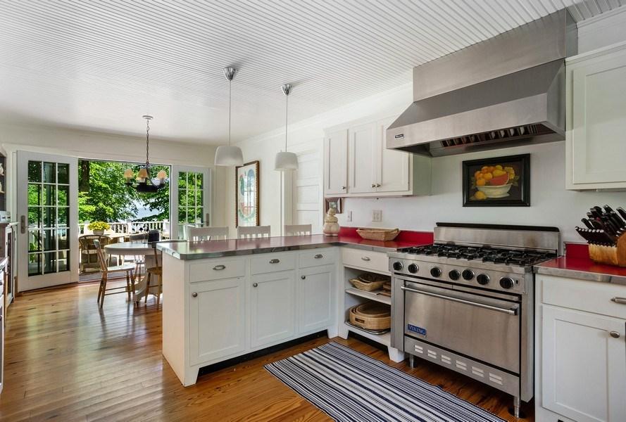 Real Estate Photography - 15120 Lakeshore Road, Lakeside, MI, 49116 - Kitchen to Kitchen Dining Area
