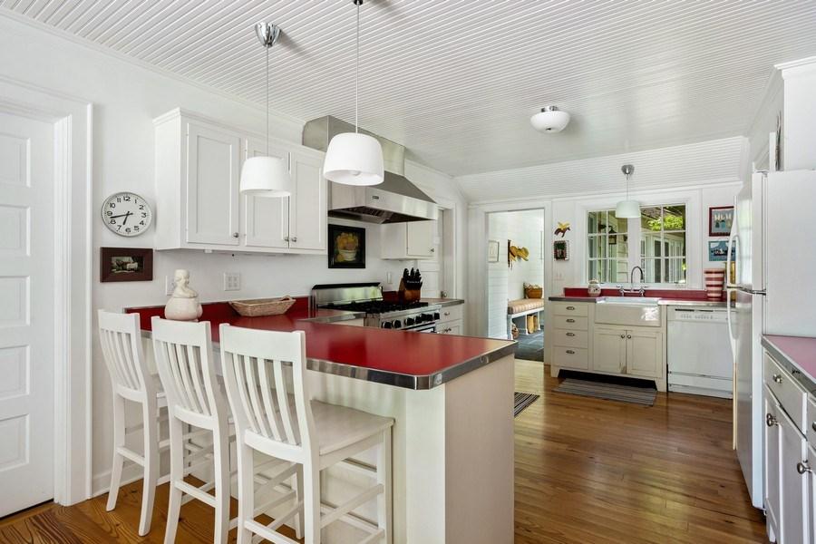 Real Estate Photography - 15120 Lakeshore Road, Lakeside, MI, 49116 - Kitchen Counter Seating
