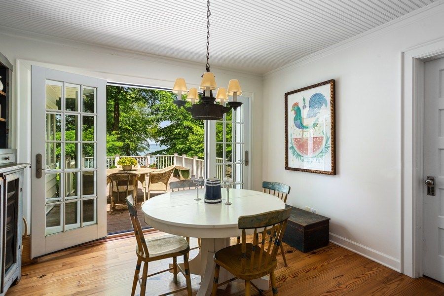 Real Estate Photography - 15120 Lakeshore Road, Lakeside, MI, 49116 - Kitchen Dining to Deck