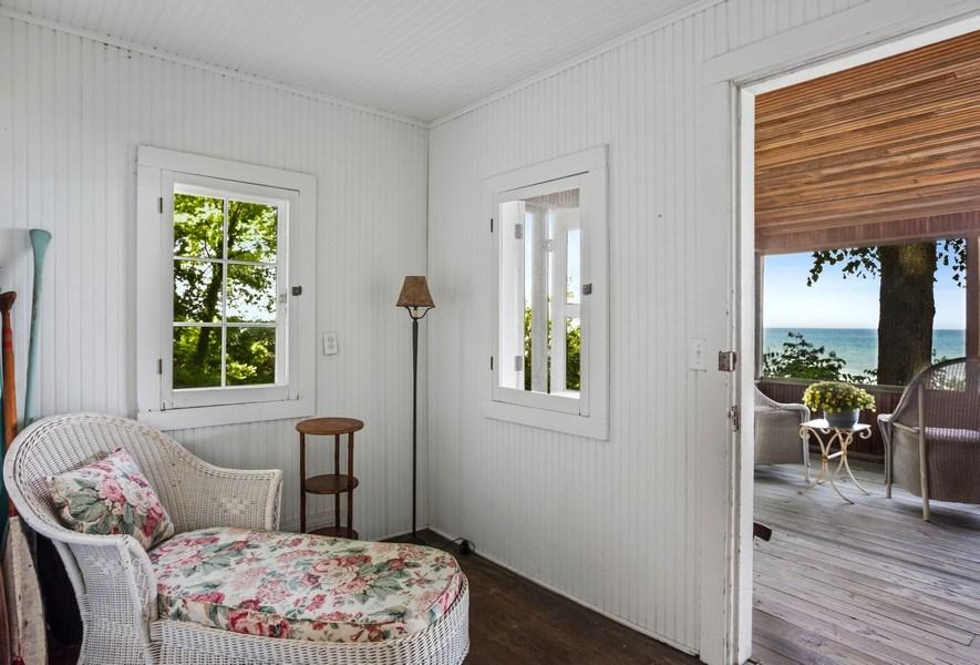 Real Estate Photography - 15120 Lakeshore Road, Lakeside, MI, 49116 - Beach House Lounge Area