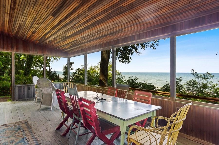 Real Estate Photography - 15120 Lakeshore Road, Lakeside, MI, 49116 - Beach House Dining Lake Views