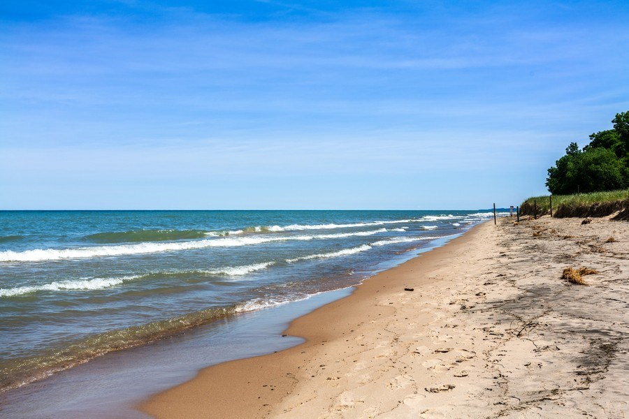 Real Estate Photography - 15120 Lakeshore Road, Lakeside, MI, 49116 - Private Beach Frontage