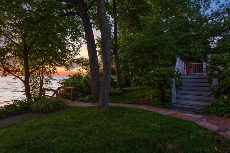 Real Estate Photography - 15120 Lakeshore Road, Lakeside, MI, 49116 - Yard to Deck