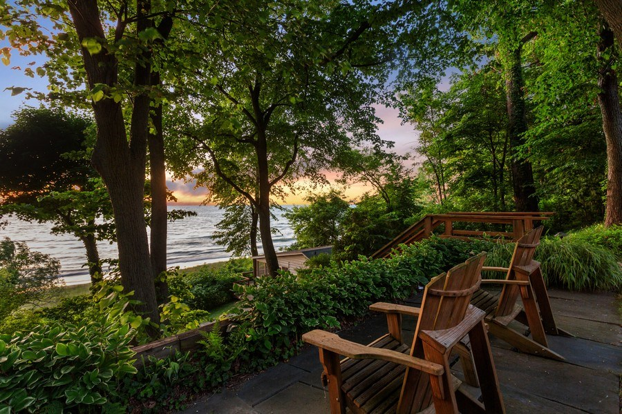 Real Estate Photography - 15120 Lakeshore Road, Lakeside, MI, 49116 - Nice but don't need this one Lake Overloook Sunset
