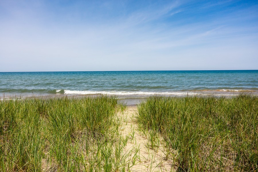 Real Estate Photography - 15120 Lakeshore Road, Lakeside, MI, 49116 - Path to Private Beach Frontage